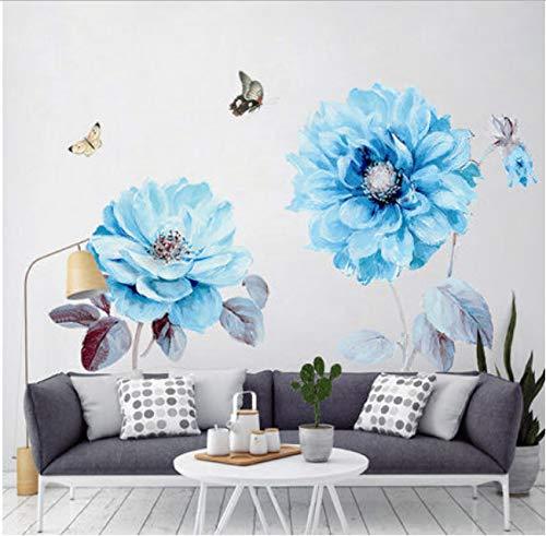 hfwh Muurstickers, romantische 3D-bloemen, wandsticker, om zelf te maken, woonkamer, modern huis, 80 x 130 cm