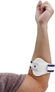 Healifty Cinta de soporte ajustable para el codo de tenista contrafoce corsé epicondilitis alivio del dolor con almohadilla de compresión - Tamaño S (Blanco)