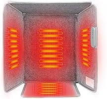 遠赤外線デスクヒーター 省エネパネルヒーター デスクヒーター デスクヒーター 自動OFF機能搭載3段温度調節 四面発熱 五面遮る 足元暖房 冷え対策 暖房器具
