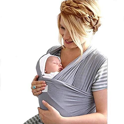 Fascia Porta Bambino Marsupio Elastico Porta Neonati Ergonomico Elegante 2a Generazione Soffice Resistente Cotone Leggero 100% Biologico Traspirante Anallergico Sicuro 0 24 mesi