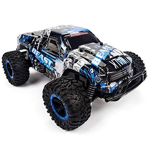 Grande auto da corsa telecomandata 4x4 ad alta potenza ad alta velocità fuoristrada RC Auto professionale per tutti i terreni camion elettrico radio ricaricabile giocattolo veicolo 4WD ( Color : Blu )