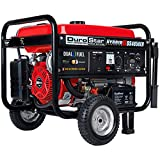 Durostar DS4850EH Dual Fuel 4850 Watt Electric Start Portable Generator,...