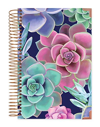 HARDCOVER bloom daily planners 2020 Calendar Year Day Planner January 2020 - December 2020 - PassionGoal Organizer - Monthly Weekly Inspirational Agenda Book - 6 x 825 - Succulents