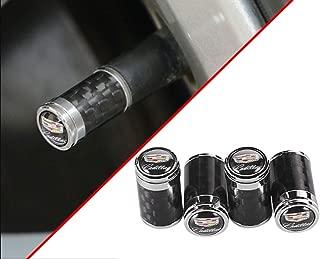 DEFTEN 2019 The New Carbon Fiber Sports Style Car Tire Wheel Valve stem caps Fit for Cadillac SRX XTS ATS CTS CT6 EXT ATS XT4 XT5 XT6 All Model 4-pcs
