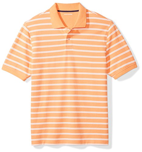 Amazon Essentials Herren Poloshirt, Korallengestreift, Small