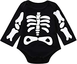 Willsa Baby Clothes, Soft Comfortable Toddler Infants Baby Boys Girl Skull Print Halloween Romper Tops Costume Outfits
