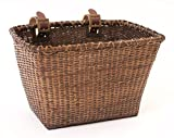 Retrospec Bicycles Cane Woven Rectangular Toto Basket with...