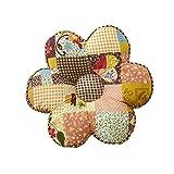 Nunubee Kissen Baumwollmaterial Blumenform Tatami-Stil zierkissen mit füllung apelt kissenhülle...