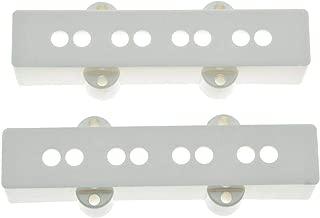 KAISH Set of 2 White Bass Pickup Covers Neck/Bridge for 4 String Jazz J Bass
