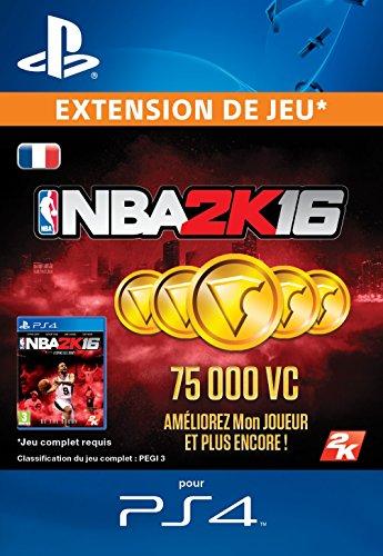 75,000 VC NBA 2K16 [Extension De Jeu] [Code Jeu PSN PS4 - Compte français]