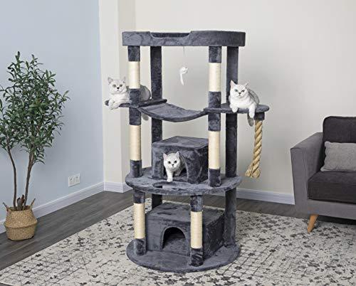 Go Pet Club Jungle Rope Cat Tree, Gray, 60'