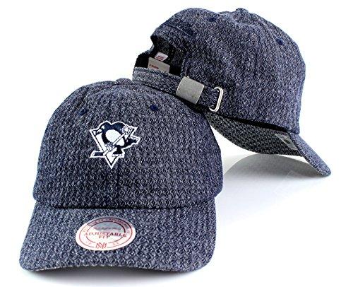 Mitchell & Ness NHL Reverse Denim Team Logo Slouch Adjustable Strapback Dad Hat