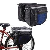 Bolsa para Bicicleta, Alforjas para Bicicleta, Bolsas Traseras para Bicicleta, Doble Bolsa para Portaequipajes, con Tiras Reflectantes, para Asiento Trasero de Bicicleta (Color Aleatorio)