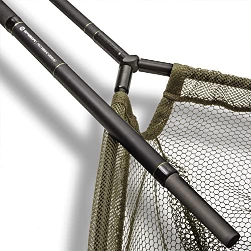 Saber Carbon 2pce Landing Net Staff & 42'' Landing Net Carp Fishing Landing Net