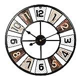 Reloj de Pared Grande Salon, Reloj de Cocina Pared Vintage, 60*60cm