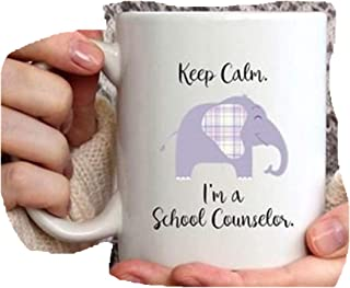 Keep Calm, I'm A School Counselor Gift Idea, Elephant Mug, School Counselor Appreciation Week, Back To School Counselor Coffee Cup