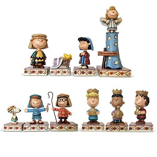 Enesco Peanuts by Jim Shore Christmas Pageant Deluxe Figurine Set, 7.5 Inch, Multicolor