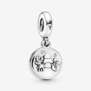 PANDORA - Perfect Christmas Charm in Sterling Silver with White Enamel and Clear Cubic Zirconia