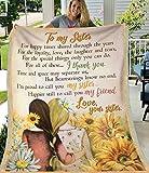 Blanket Gift for My Sister with Sunflower Fleece Blanket/Velveteen Plush Blanket 30x40,50x60,60x80.