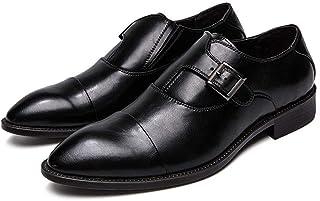 [DOUERY LTD] メンズ ビジネスシューズ ブロック 抗菌防臭 ビジネスシューズ 黒 タッセル 装飾 ポインテッドトゥ 脚長効果 紳士靴 フォーマルシューズ 防滑 防水 26.5cm