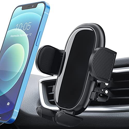 Porta Cellulare da Auto, Supporto Cellulare Auto con Stabili e Estensibili Bracci e Pulsante di Rilascio a Doppio, Compatibile con iPhone 12 11 Pro Max XS XR, Galaxy