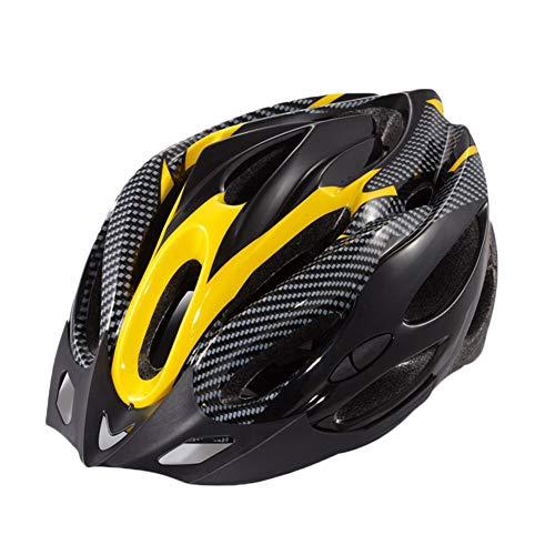 YOUCAI Casco MTB Adulto Hombres Mujer Moda Ajustable Cascos Bici Amarillo Negro