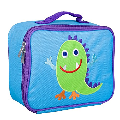 Wildkin Kids Insulated Embroidered Lunch Box Bag for Boys and Girls, Perfect Size for Packing Hot or Cold Snacks for School & Travel, Measures 10 x 7.5 x 4 Inches, BPA-Free, Olive Kids (Monsters)
