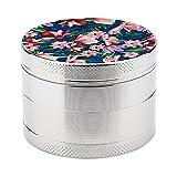 Abrader,Abrader di metallo di sale e pepe,Mini manuale Spice Grinder multifunzionale cucina-acquerello blu marino rosso corallo tropicale floreale