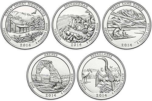 2014 P, D BU National Parks Quarters – 10 coin Set Uncirculated