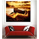 Art Déco Sticker – Poster Burg Fort Maße – 39 x 26 cm