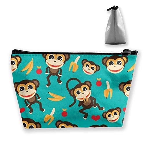 Cadeau idéal – Balances en coquille de sirène multifonction, sac de rangement trapézoïdal, petit sac de maquillage, trousse de toilette portable avec fermeture éclair