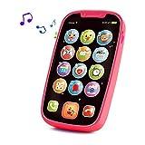 Yerloa Telefon Musikspielzeug Baby Spielzeug ab 1 Jahr,Smart Phone Baby Spielzeug ab 6 9 12 Monate,Lernspielzeug mit Liedern Geräuschen Wörter und Blinkenden Lichtern,Lernhandy Kleinkinder Geschenk