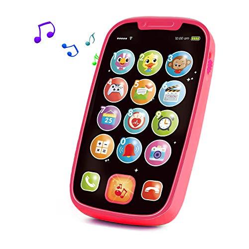 Yerloa Telefono Giochi Neonato 6 9 12 Mesi,Cellulare Giocattolo per Bambini,Giocattolo Musicale per Bambini,Giocattolo Educativo per l'Apprendimento, Gioco Musicali Regalo per Infanzia 1-3 Anno