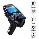 Manos Libres Bluetooth Transmisor FM Coche Mini Manos Libres Emisor Radio Adaptador Radio Musica Receptor Altavoz Bluetooth Coche FM Reproductor de MP3 Transmisor 5V/2.1A USB Bluetooth