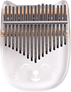 Thumb Piano, Decdeal 17-Key Cute Transparent Thumb Piano Kalimba Acrylic Material with Carry Case Tuning H958743er Sticker...