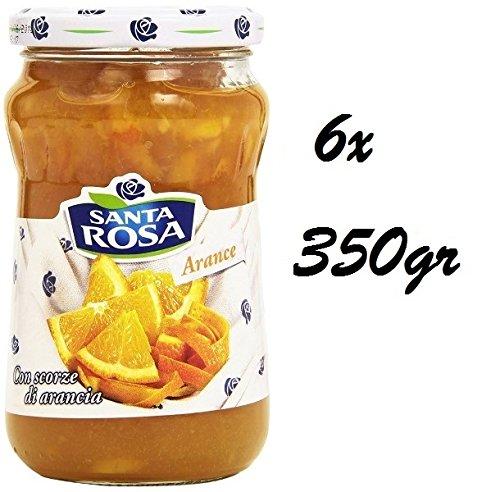 6x Santa Rosa Orangen Marmelade Konfitüre Brotaufstriche aus Italien 350 g