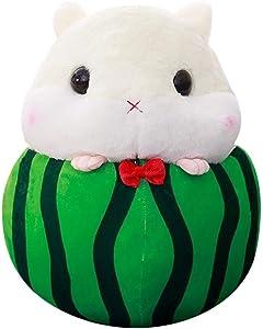 Peluche Juguete de hámster suave, juguete de felpa de peluche de hámster lindo Juguete de amortiguador de estrés de hámster de fruta Hamster Kawaii, juguete divertido de juguete de los niños / juguete