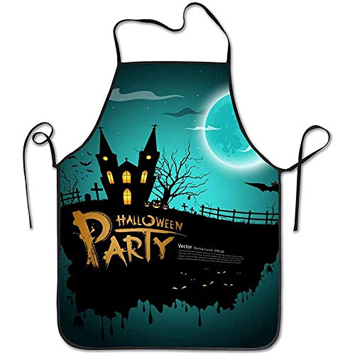 Katrine Shop Halloween Party Grußkarte Vektor Bild Lätzchen Schürze Professional Durable Unisex