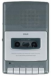 "cheap RCA RP3504 shoebox"" cassette recorder, gray"