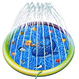 Joyjoz Splash Pad, Kids Sprinkler Pad Play Mat, Children's Outdoor Sprinkler Pool for Children Boys Girls Fun,60' Inflatable Water Toys,Outdoor Swimming Pool for Babies and Toddlers