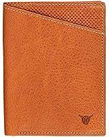 VASA Cognac Vertical Top Grain Leather Wallets For Men - European Luxury Minimalist Bifold Wallet with RFID and NFC Blocking Credit Card Holder - Premium Mens Slim Bi Fold Pocket Wallet