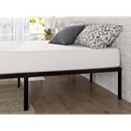 Zinus Yelena 14 Inch Classic Metal Platform Bed Frame with Steel Slat Support / Mattress Foundation, Twin