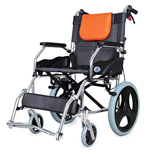 OPRG Wheelchairs Folding Lightweight Self Propelled With Attendant Brakes,manual,strong Aluminium Compact Transport Wheelchair,portable Transit Travel Chair For Seniors The Disabled Adults