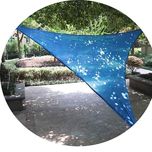 PLEASUR Party Zonnebrandcrème Luifel Driehoekige Zonnezeil Outdoor Patio Zwembad Waterdichte Zonwering Camping Picknick Tent Waterdichte Schaduwdoek (Kleur: Blauw, Maat : 2x2x2m)