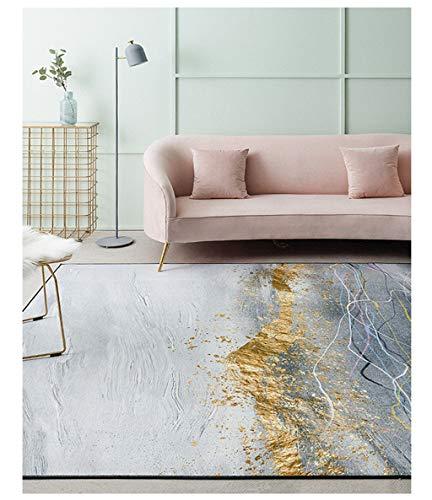 William 337 - Tappeto moderno e di lusso, ideale per il salotto, per la camera da letto, il comodino, la casa (colore: B, dimensioni: 160 x 230 cm)