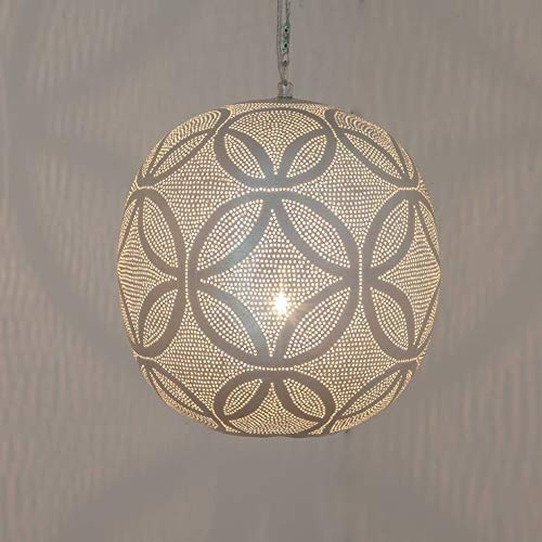 Ball, Kugel, Metall, gelocht, Durchmesser 27 cm, versilbert, Zenza