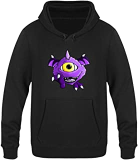 One Ey-ed One Ho-rned Flyin-g Purple Fashion Plus Velvet Sweater Pullover