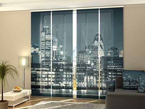 cortinas salon panel japones de cuatro