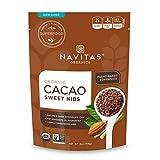 Navitas Organics Sweetened Cacao Nibs, 4oz. Bag - Organic, Non-GMO, Fair Trade, Gluten-Free