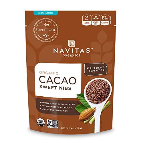 Navitas Organics Cacao Sweet Nibs, 4oz. Bag, 28 Servings — Organic, Non-GMO, Gluten-Free
